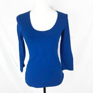 BODEN Womens Shirt Blue Scoop Neck Small (6)